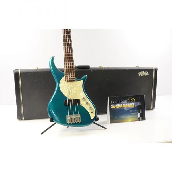 Custom 1995 Pedulla Rapture RB-5 Electric Bass - Green w/OHSC - Bartolini PU #1 image