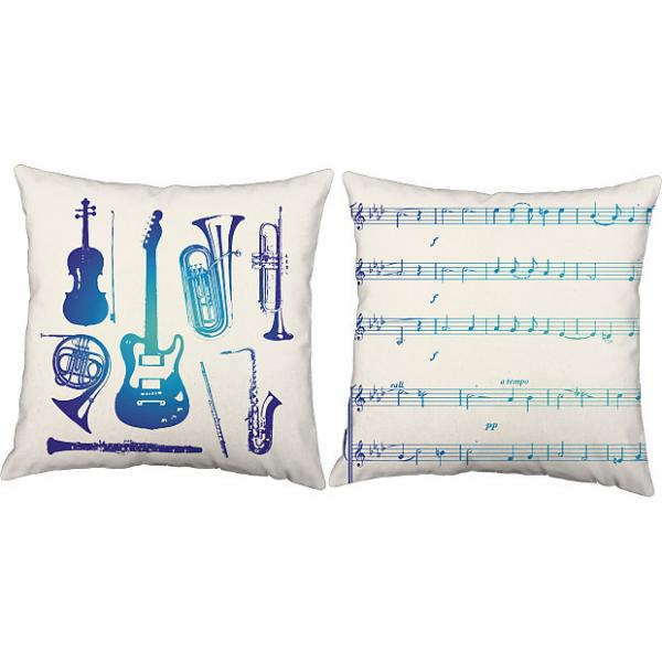 Custom Blue Instruments - RoomCraft Throw Pillows #1 image