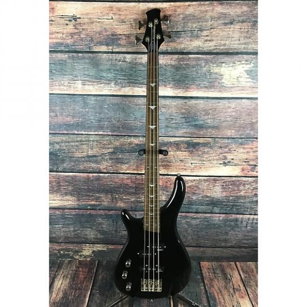 Custom Tradition B100 Left handed 4 string bass Gloss Black with padded gig bag #1 image