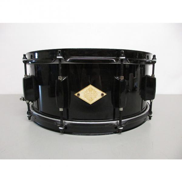 "Custom Battlefield Drum Company 6x14"" Steel Snare Black #1 image"