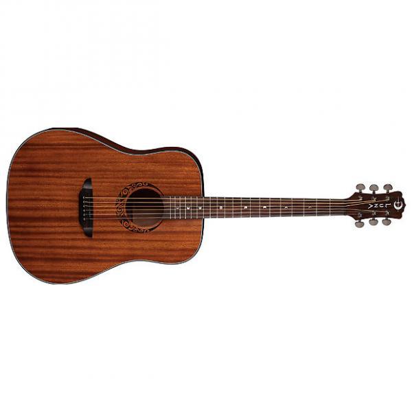 Custom Luna Gypsy Dreadnought Mahogany Acoustic Guitar #1 image