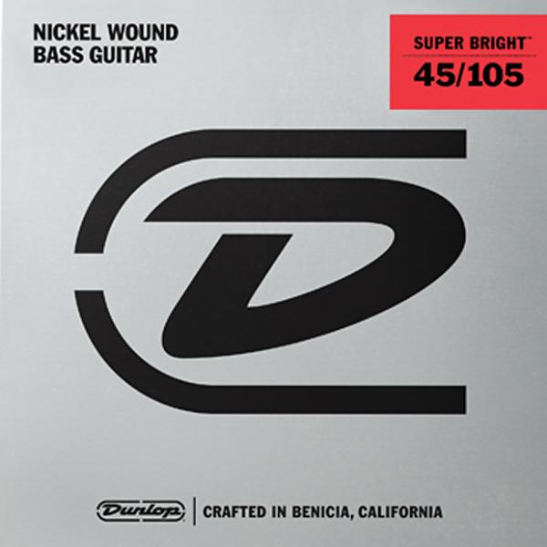 Custom Dunlop Super Bright Nickel Wound Bass String Set .45-.105 3 Sets @ $29.00 #1 image