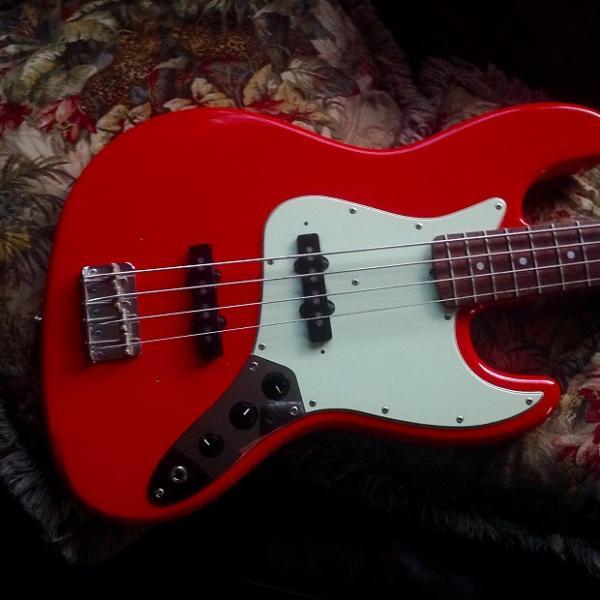 Custom Bacchus by Headway Jazz Bass 80's Fiesta Red #1 image