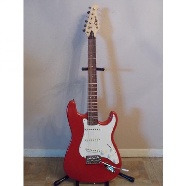 Custom Lotus Strat Style Guitar Red #1 image
