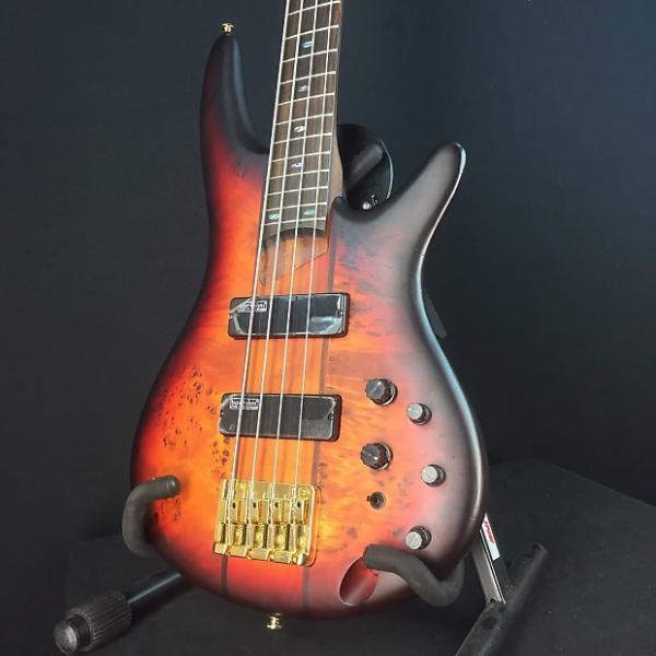 Custom Ibanez SR800 4-String Bass 2016 Aged Whiskey Burst, Bartolini Pickups #1 image
