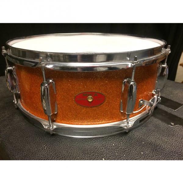 Custom Mica Swingline 14x5.5 snare Mid 60s Orange sparkle #1 image