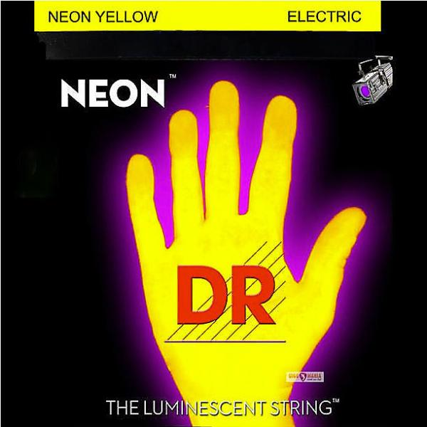 Custom DR Neon YELLOW Elec Guitar Strings 9-46 lite-n-heavy #1 image