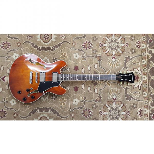 Custom Eastman T386 Thinline Archtop Electric Guitar with Hardshell Case and Professional Setup! #1 image