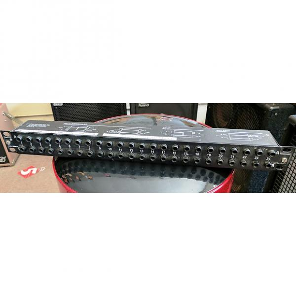 Custom Neutrik NYS-SPP-L1 48-Point TRS Patchbay, 2000's, Black, 1U, 24 Front, 24 Back, 3 Modes #1 image