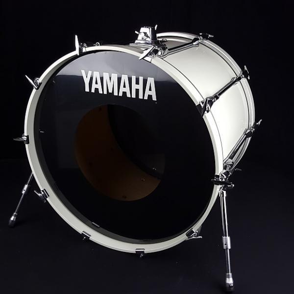 Custom Yamaha 1990's Rock Tour Custom White 24 x 18 Kick Bass Drum #1 image