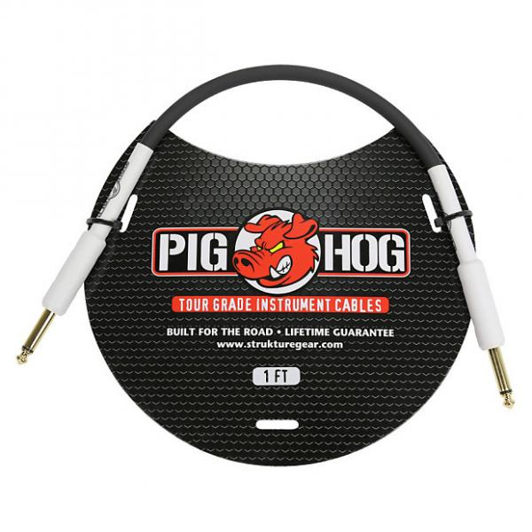 "Custom Pig Hog 1ft 1/4"" to 1/4"" Instrument Cable w/ FREE SAME DAY SHIPPING #1 image"