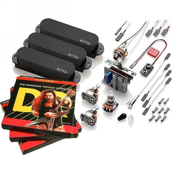 Custom EMG-SA Pickup Set for Stratocaster, Black, with 3 Sets DR Dimebag 9-46 #1 image