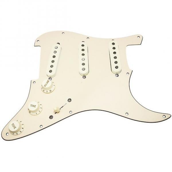Custom Loaded Strat Pickguard, Fender Deluxe Drive Pickups, Blend Pot, Cream/Aged White #1 image