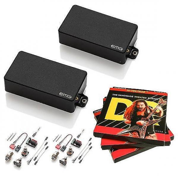 Custom EMG-85 and 81 Active Pickup Set, Black, w 3 sets DR Dimebag Hi-Voltage 9-46 #1 image