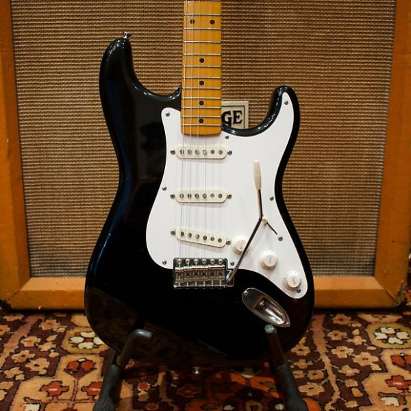 Custom Vintage 1983 Fender Squier JV SST50 50s Reissue 'Flagship Model' Black Japan Stratocaster Guitar #1 image