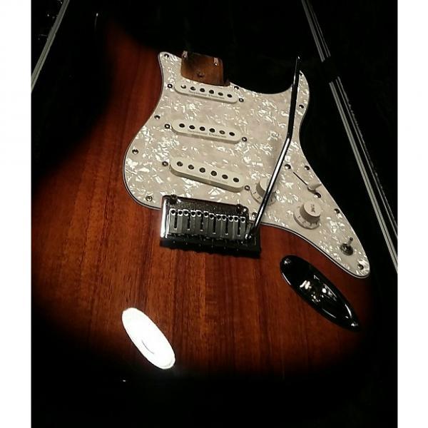 Custom Fender Stratocaster   Koa Sunburst #1 image