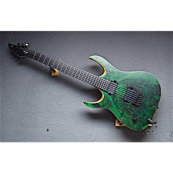 Custom Mayones Left Handed Duvall Elite-6 2017 Eye Poplar Trans Green Lefty Guitar #1 image
