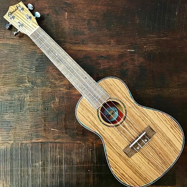 Custom Amahi Classic Zebrawood Concert Ukulele w/ 10mm Padded Bag and Leather Pick #1 image
