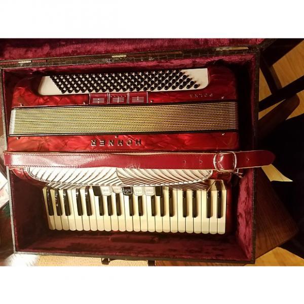 Custom Vintage Hohner Polka  Red 120 LMM Accordion #1 image