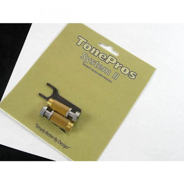 Custom Tone Pros System II SCS1 Locking US Tailpiece Studs Chrome SCS1/CH #1 image