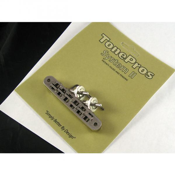 Custom Tone Pros TP6 US Locking Tunematic 4mm Small Posts Nickel TP6-N #1 image