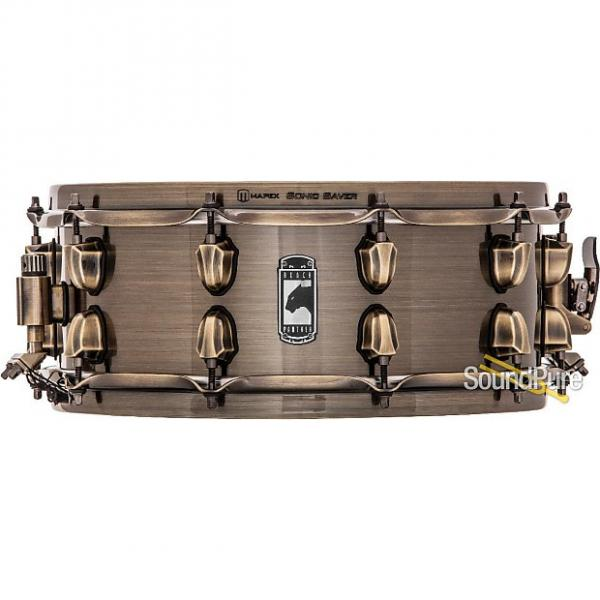 Custom Mapex 5.5x14 Black Panther Brass Cat Snare Drum #1 image