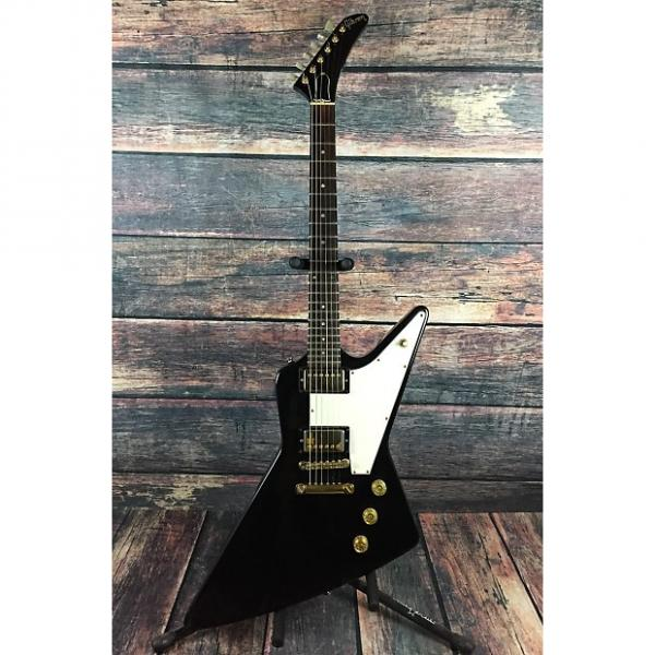 "Custom Gibson Explorer ""Korina"" Heritage Series Limited Edition  1983 Ebony with Gibson Case #1 image"