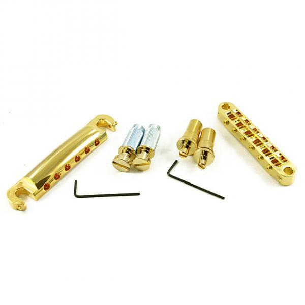 Custom Tone Pros LPGM02/GLD T3BT T1Z Bridge + Tailpiece Set Metric Gold T3BT-G T1Z-G #1 image
