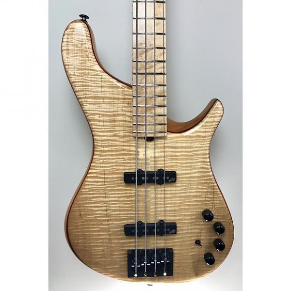 "Custom Brubaker NBS-4 ""Lexa"" Flame-Maple Top and Back, Birdseye Fingerboard #1 image"