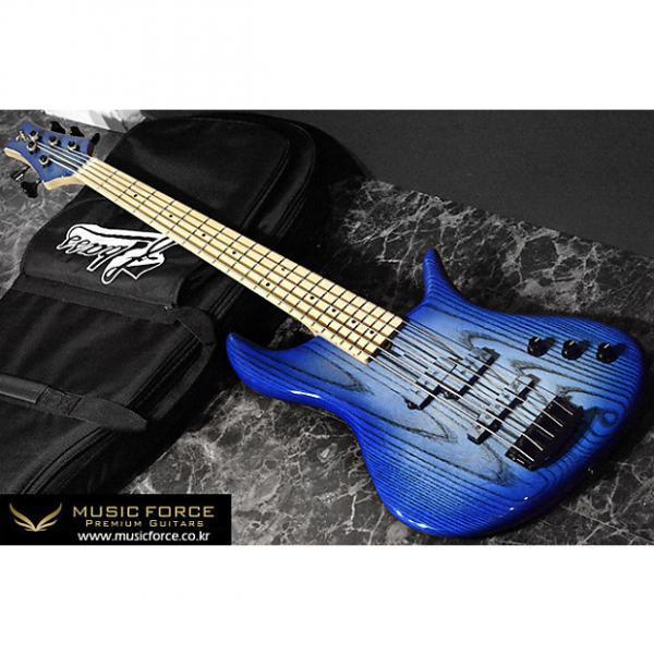 Custom F-Bass VF5-PJ Passive 2016 Faded Blue Burst Gloss #1 image