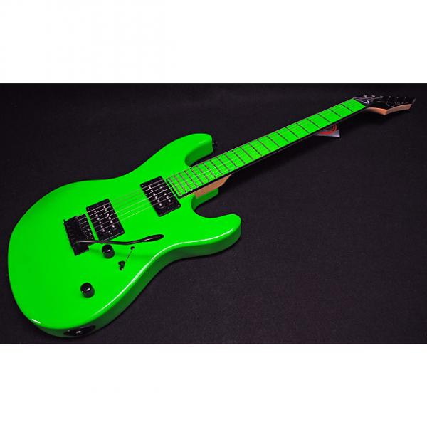 Custom Dean Custom Zone 2 HB Electric Guitar Florescent Green Professionally Set Up! #1 image