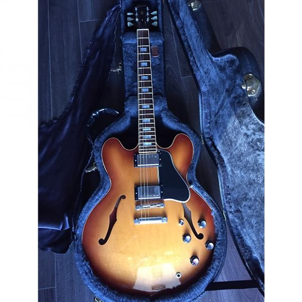 Custom Gibson ES 335 2005 Tea Burst Block inlay #1 image