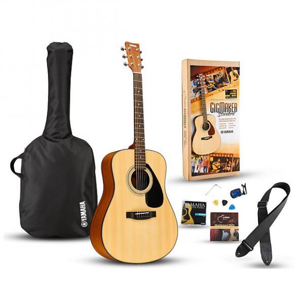 Custom Yamaha GigMaker Standard Acoustic Guitar Pack Natural #1 image