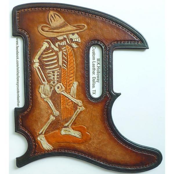 Custom Homage to Posada Leather Tele Pickguard #1 image