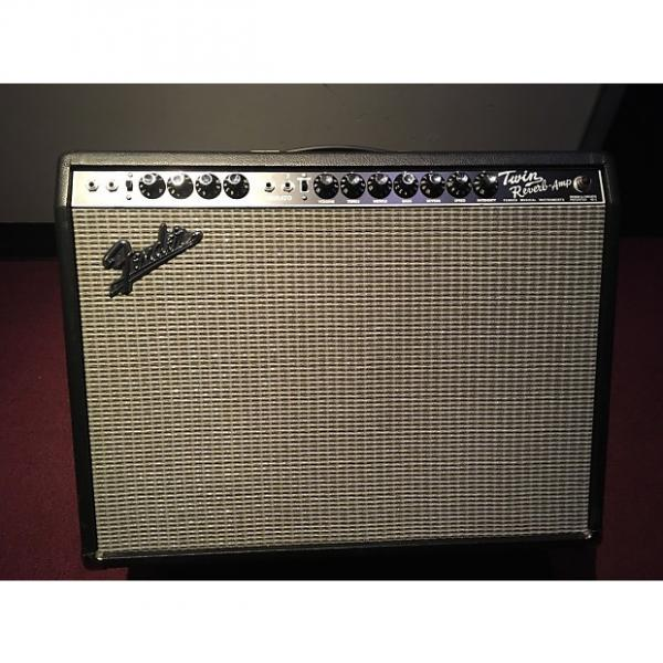 Custom Fender 65 Twin Reverb Reissue 85W 2x12 Guitar Combo Amp 2016 black #1 image