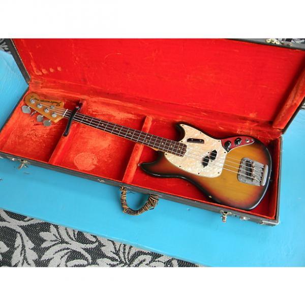 Custom 1972 Fender Mustang Bass Sunburst Finish Rosewood Fingerboard With Rough Original Case Short Scale #1 image