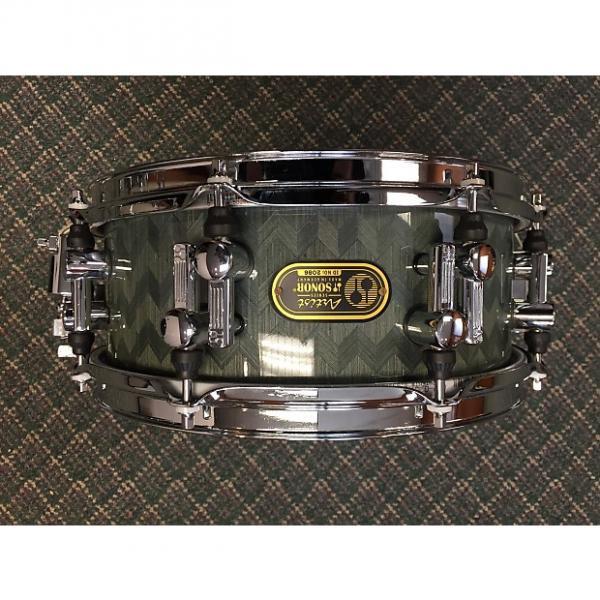 Custom Sonor Artist snare drum, birch 12 x 5 Greyish, subtle herringbone #1 image