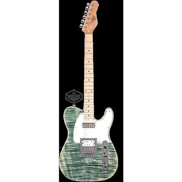 Custom Michael Kelly Mod Shop 1955 Flame Blue Jean Wash electric guitar NEW - Seymour Duncan pickups #1 image