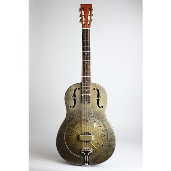 Custom National  Duolian Resophonic Guitar (1933), ser. #C-7251, brown hard shell case. #1 image