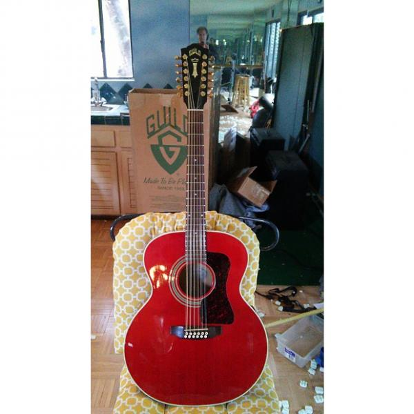 Custom Guild JF30-12E, Westerly R.I. Gold, Capture the Eyes with this Red Rocker! I'm taking Offers #1 image