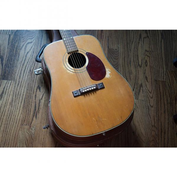 Custom Kay Country N2 1950s Natural Dreadnought Acoustic w/ Pickup and Case #1 image