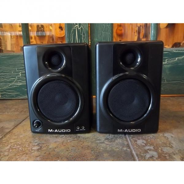 Custom M-Audio Studiophile AV40 AV-40 Studio Monitors Black #1 image