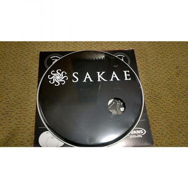 "Custom Sakae 16"" Bass Drum Head  Black #1 image"