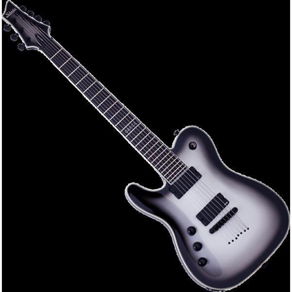 Custom Schecter Chris Garza PT-7 Left-Handed Electric Guitar Silverburst #1 image