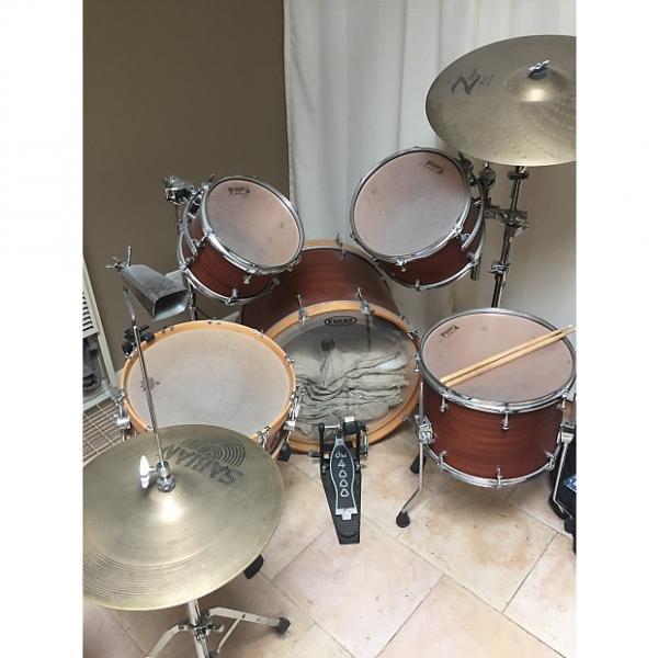 Custom Allegra drums, 5 piece full kit, natural Douglass Fir shells #1 image