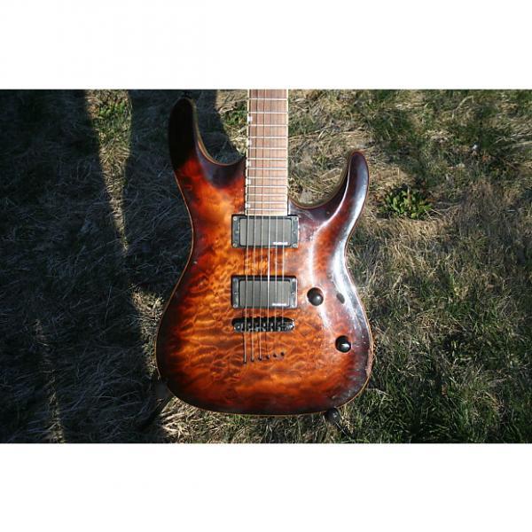Custom ESP LTD  Mh 250 Nt  2005 Brown flame #1 image