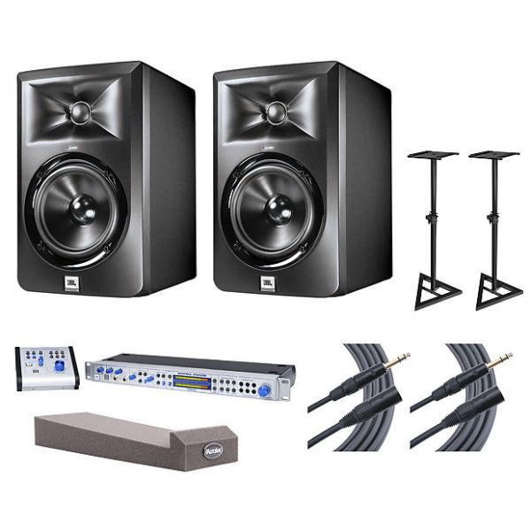 Custom 2x JBL LSR305 + Central Station PLUS + Stands + MoPADs + Cables #1 image