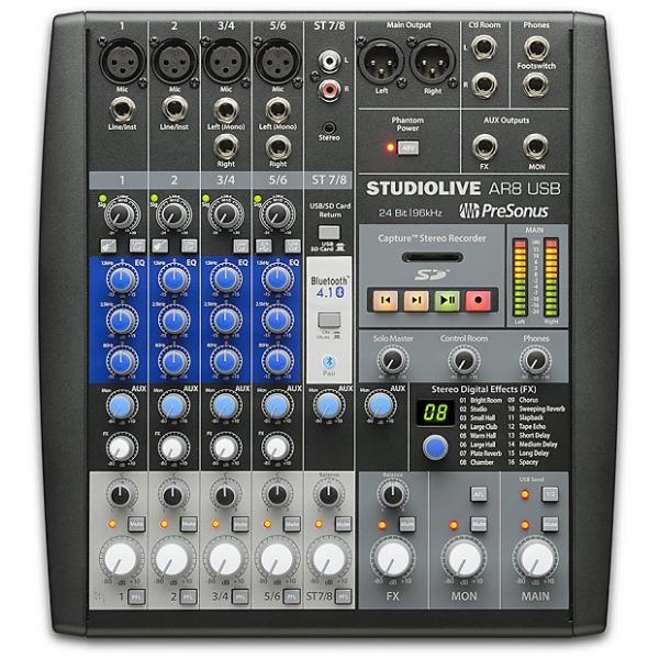 Custom Presonus - StudioLive AR8 USB 8-Channel hybrid Performance and Recording Mixer #1 image