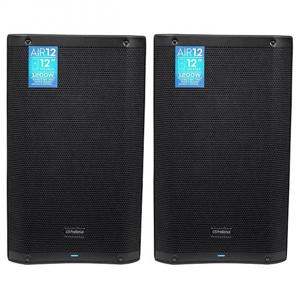 "Custom Presonus - AIR12 12"" 2400 Watt Powered Active 2-Way PA DJ Speakers - Pair #1 image"
