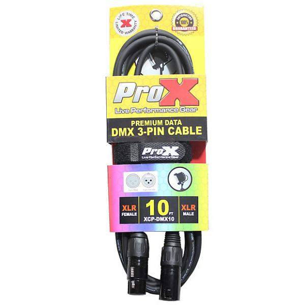Custom ProX XCP-DMX10 3-Pin DMX Cable Tour-Grade Professional High Performance 10 ft #1 image